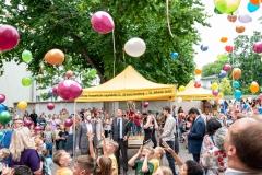 DIG feiert Jubiläum. Luftballonstart