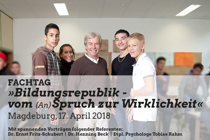 """Ernst Fritz-Schubert unterrichtet Schulfach """"Glueck"""""""